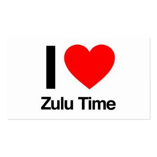 amo tiempo del Zulú Tarjetas De Visita