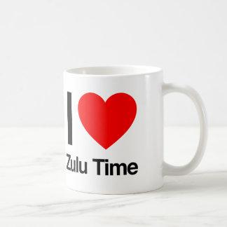 amo tiempo del Zulú Taza De Café