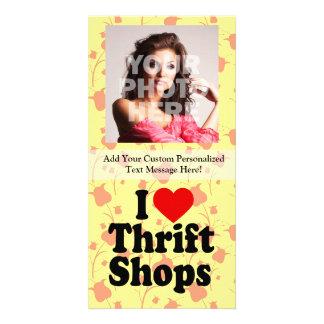 Amo tiendas de ahorro plantilla para tarjeta de foto