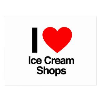 amo tiendas de helado postal
