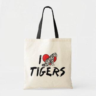 Amo tigres bolsas lienzo