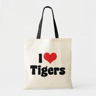 Amo tigres bolsa de mano