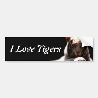 Amo tigres pegatina de parachoque