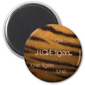 AMO tigres Imán Redondo 5 Cm