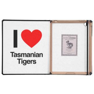 amo tigres tasmanos iPad cárcasa