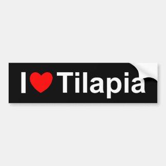 Amo Tilapia (del corazón) Pegatina Para Auto
