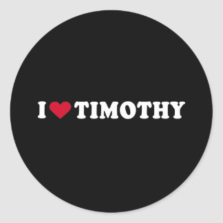 AMO TIMOTHY PEGATINAS REDONDAS