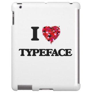 Amo tipografía funda para iPad