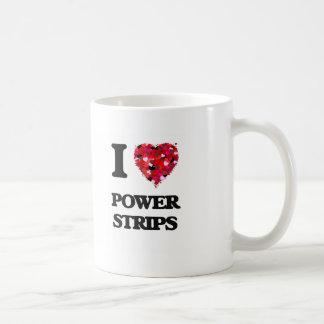 Amo tiras del poder taza básica blanca