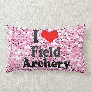 Amo tiro al arco de campo almohada