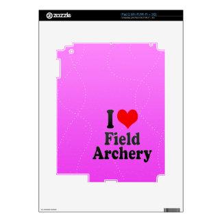 Amo tiro al arco de campo calcomanía para iPad 2