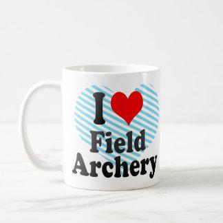 Amo tiro al arco de campo tazas de café