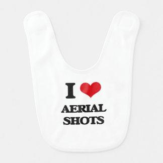 Amo tiros aéreos baberos de bebé