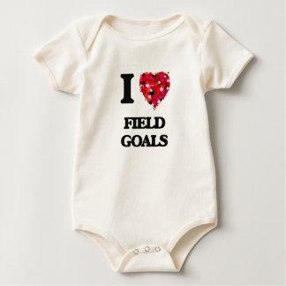Amo tiros de campo mameluco de bebé