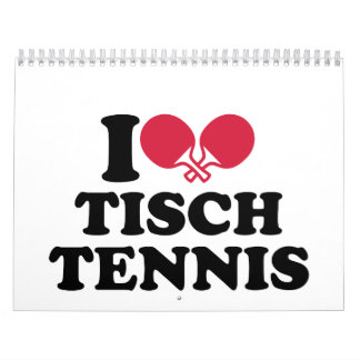 Amo Tischtennis Calendario De Pared