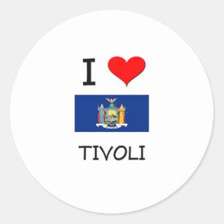 Amo Tivoli Nueva York Etiquetas Redondas