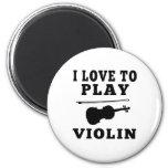 Amo tocar el violín imanes para frigoríficos