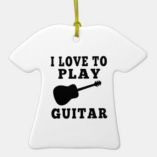 Amo tocar la guitarra ornamento de navidad