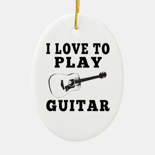 Amo tocar la guitarra ornamente de reyes