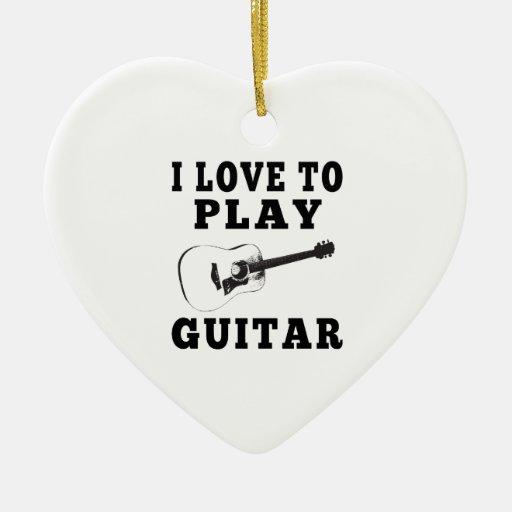 Amo tocar la guitarra adorno para reyes