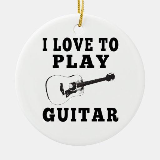Amo tocar la guitarra ornamentos de reyes magos