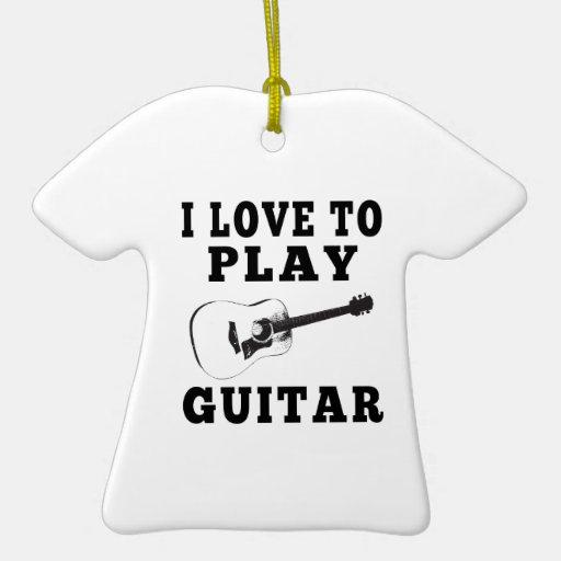 Amo tocar la guitarra ornaments para arbol de navidad