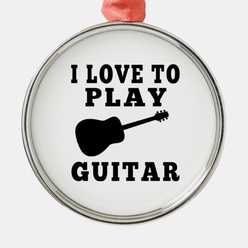 Amo tocar la guitarra ornatos