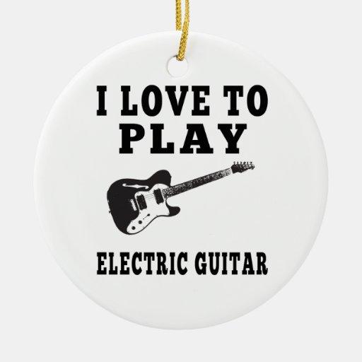 Amo tocar la guitarra eléctrica ornaments para arbol de navidad