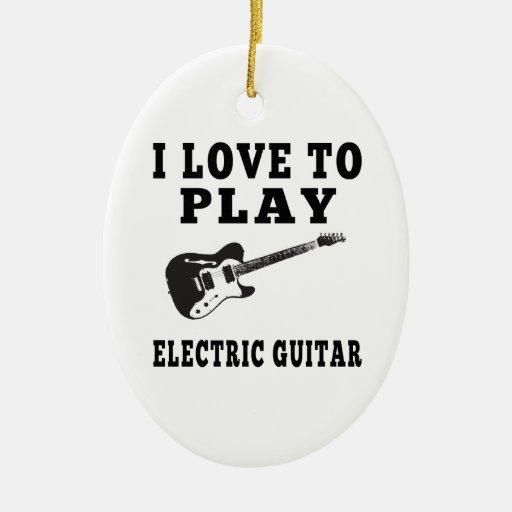 Amo tocar la guitarra eléctrica adorno para reyes