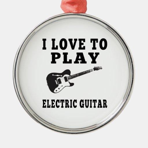 Amo tocar la guitarra eléctrica ornamentos para reyes magos