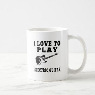 Amo tocar la guitarra eléctrica taza