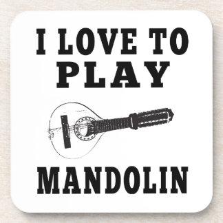Amo tocar la mandolina posavasos de bebida