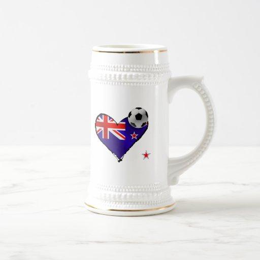 Amo todo el fútbol de bandera de Nueva Zelanda de  Tazas De Café