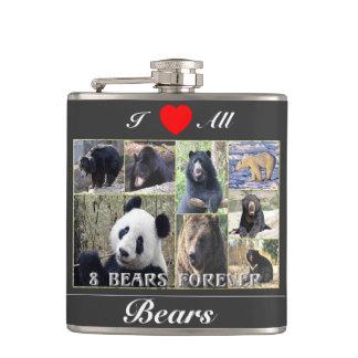 Amo todos los osos petaca