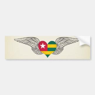 Amo Togo - alas Pegatina Para Auto