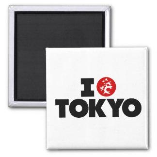 Amo Tokio Imán Cuadrado