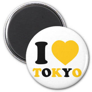 Amo Tokio Imán Redondo 5 Cm