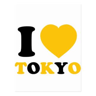 Amo Tokio Tarjetas Postales