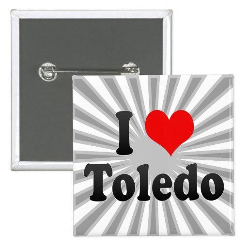 Amo Toledo, Estados Unidos Pin Cuadrada 5 Cm