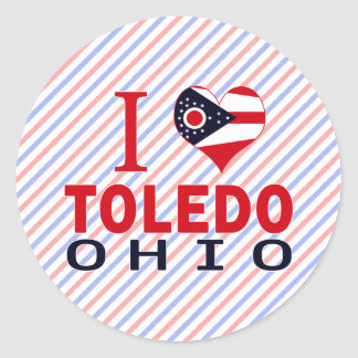 Amo Toledo Ohio Etiqueta Redonda