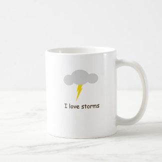 Amo tormentas taza de café