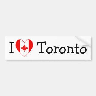 Amo Toronto Etiqueta De Parachoque