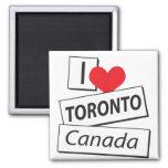 Amo Toronto Canadá Imán De Frigorifico