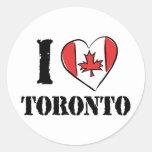 Amo Toronto Canadá Pegatinas Redondas