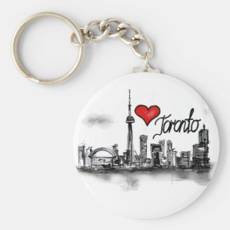 Amo Toronto Llavero Redondo Tipo Pin