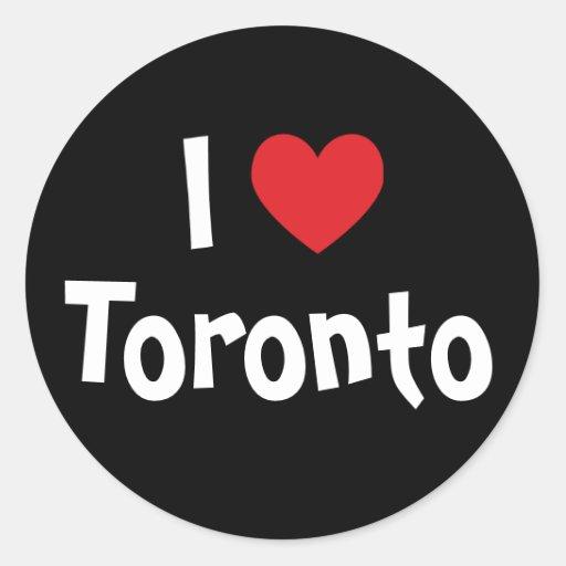 Amo Toronto Pegatina Redonda