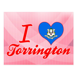 Amo Torrington, Connecticut Tarjeta Postal
