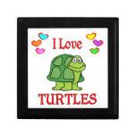 Amo tortugas cajas de recuerdo