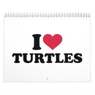 Amo tortugas calendarios