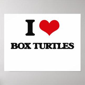 Amo tortugas de caja póster